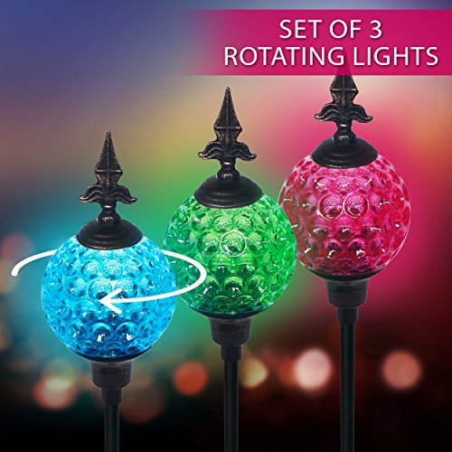 Crackle Ball Solar Lights With Spinning Glass & Decorative