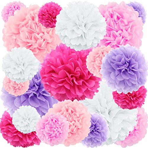20 ct tissue paper pom poms flowers rose nubia ton azude decorative tissues paper pom pom perfect craft decoration fan idea for men and women the pink tissue paper flowers decorations kit includes 5 colors mightylinksfo